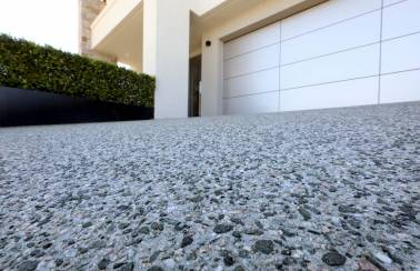 """Geostone decorative concrete features in """"Backyard Week"""" on Channel 9's """"The Block"""""""