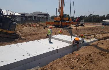 Innovative precast concrete solution for gas main protection on Denham Court Road Upgrade in Sydney